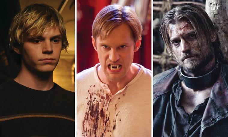 """Evan Peters on """"American Horror Story,"""" Alexander Skarsgard on """"True Blood"""" and Nikolaj Coster-Waldau on """"Game of Thrones."""""""
