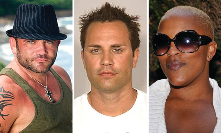 "Russell Hantz of ""Survivor,"" Ryan Jenkins of ""Megan Wants a Millionaire"" and Frenchie Davis of ""American Idol."""