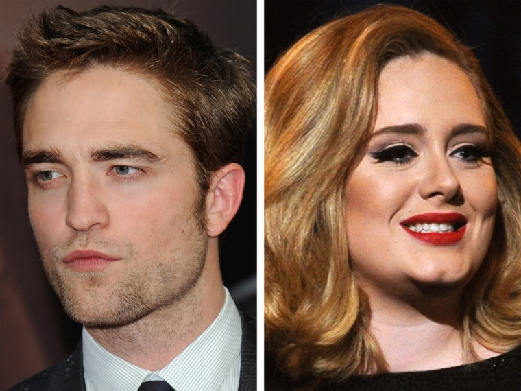 Robert Pattinson and Adele