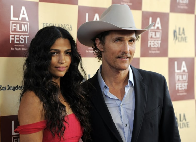Matthew McConaughey and Camila Alves.
