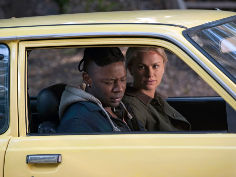 "Sookie (Anna Paquin) and Lafayette (Nelsan Ellis) in ""True Blood."""
