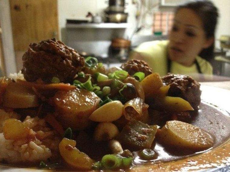 Vegetarian mechado from Filipino restaurant Milkfish. Food personality Andrew Zimmern thinks Filipino fare will be trendy in the next two years.