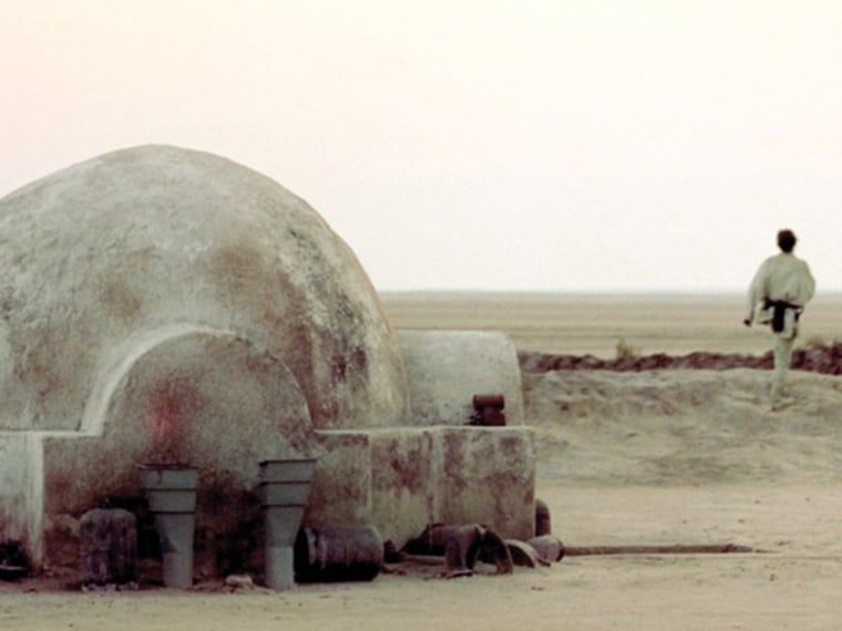 A group of movie fans restored the Tunisian set that was used as Luke Skywalker's childhood home in