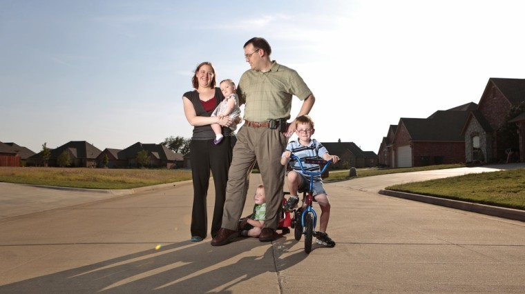 """Dustin Baylor and family: As a doctor and devoted dad, Baylor says, \""""I often feel overwhelmed trying to do it all.\"""""""