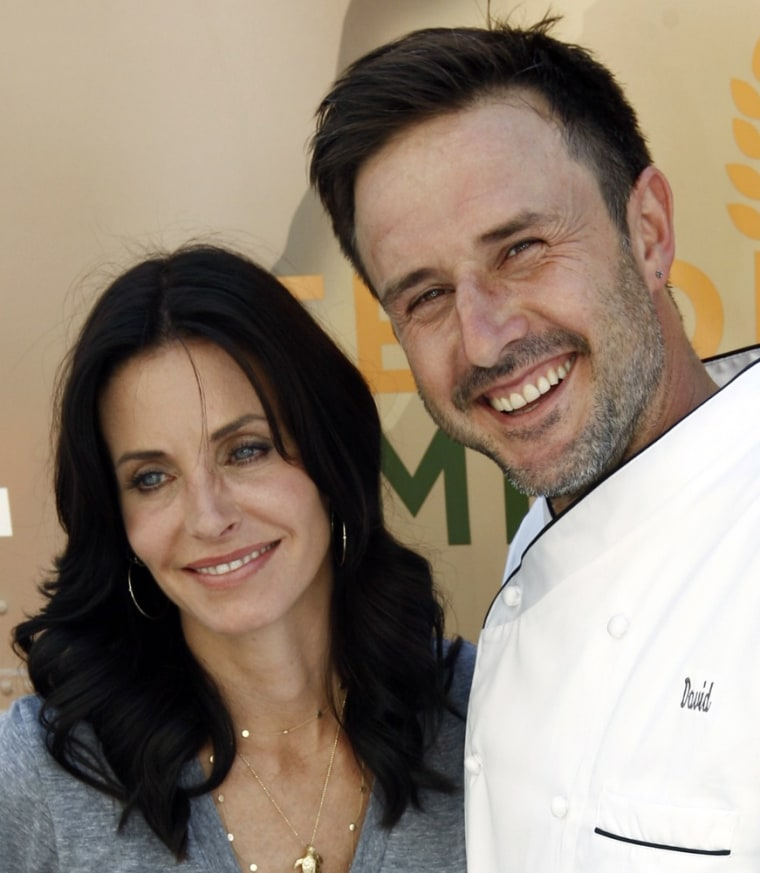 David Arquette, right, and Courteney Cox.