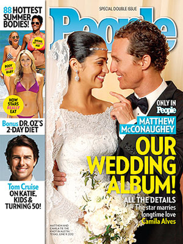Matthew McConaughey and longtime love Camila Alves, as seen on this week's issue of PEOPLE magazine, were married in Texas on June 9.