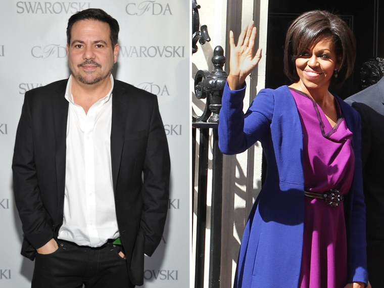 Fashion designer Narciso Rodriguez, seen at the 2012 CFDA Awards Nominee & Honoree announcement on March 14, is designing for Kohl's; First lady Michelle Obama wore the designer's coat while meeting with British Prime Minister David Cameron and his wife Samantha Cameron on May 24, 2011 in London, England.