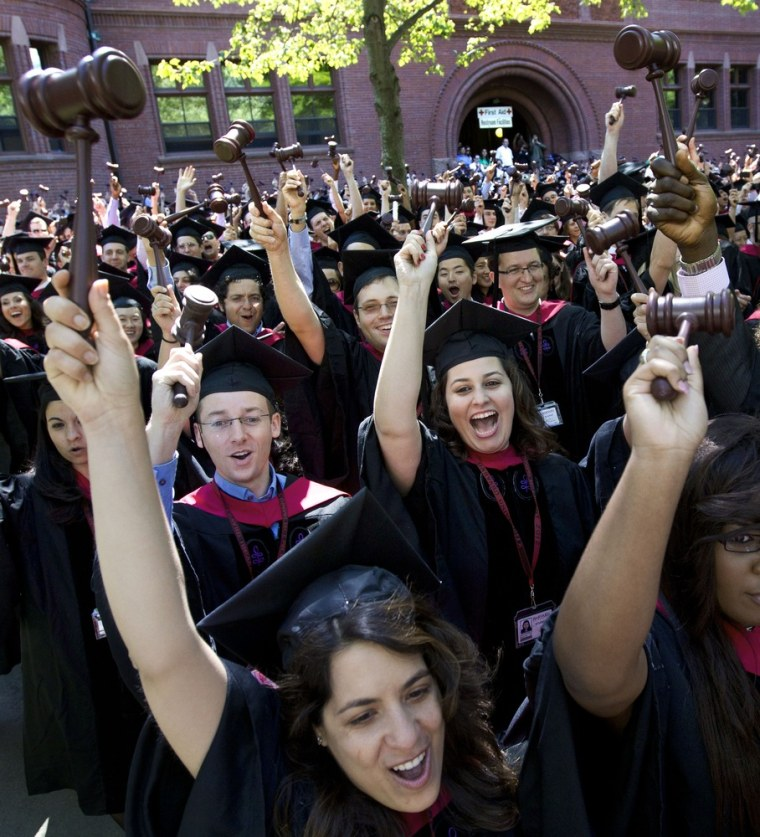 These 2012 Harvard law school graduates likely face solid prospects, but that is not as true for many newly minted lawyers.
