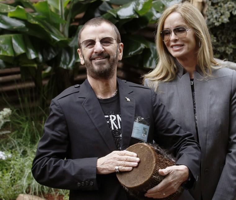 Ringo Starr and wife Barbara Bach.