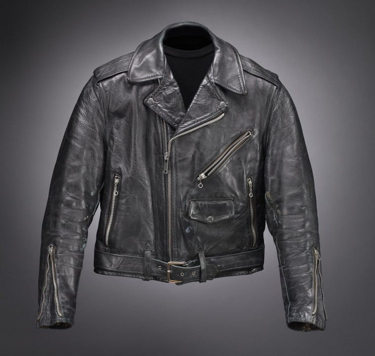 The Harley-Davidson Museum in Milwaukee, Wis., is exhibiting more than 50 leather jackets, including this one that belonged to Elvis Presley. The exhibit opens this weekend.