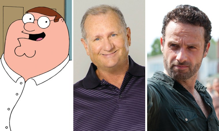 "Peter Griffin on ""Family Guy,"" Jay Pritchett (Ed O'Neill) on ""Modern Family"" and Rick Grimes (Andrew Lincoln) on ""Walking Dead."""