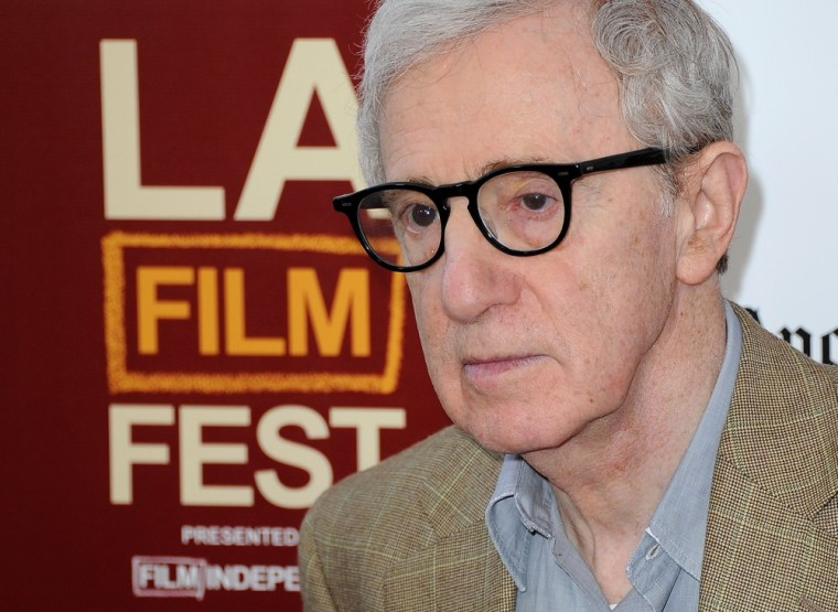 """Woody Allen at the 2012 Los Angeles Film Festival premiere of """"To Rome With Love"""" on June 14 in Los Angeles."""