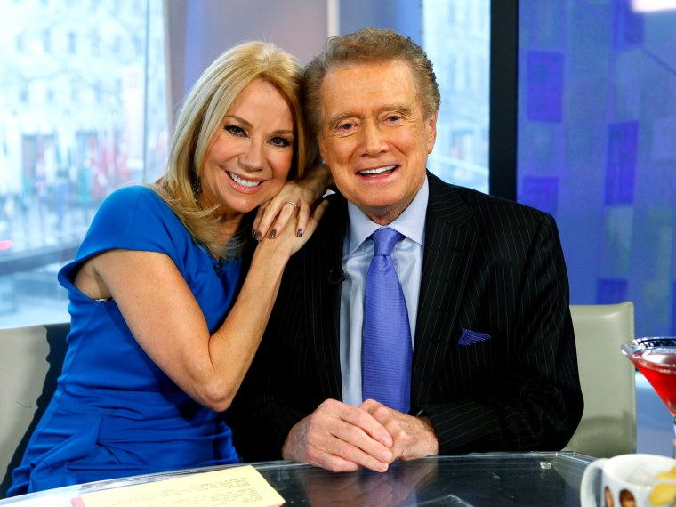 Hoda is out on Wednesday and Regis will be assuming her anchoring duties for the day.