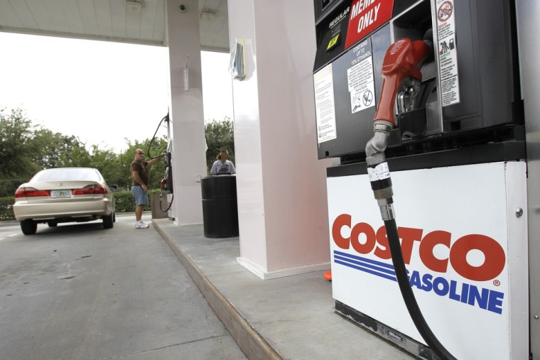 Warehouse stores and grocers like Costco lag behind Big Oil, but they are gaining with consumers.