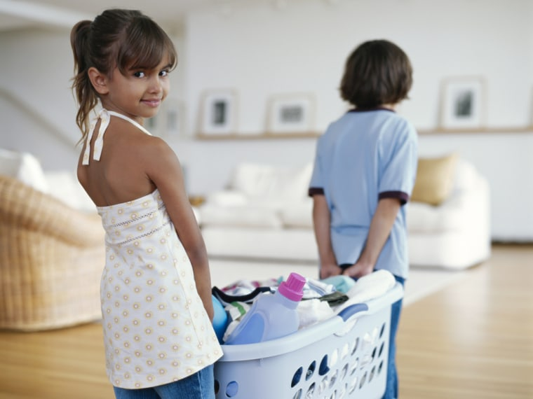 """Getting kids to sort laundry is a perfect """"distractivity."""""""