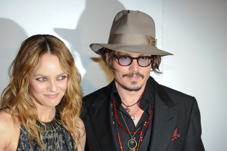Vanessa Paradis and Johnny Depp in 2010.