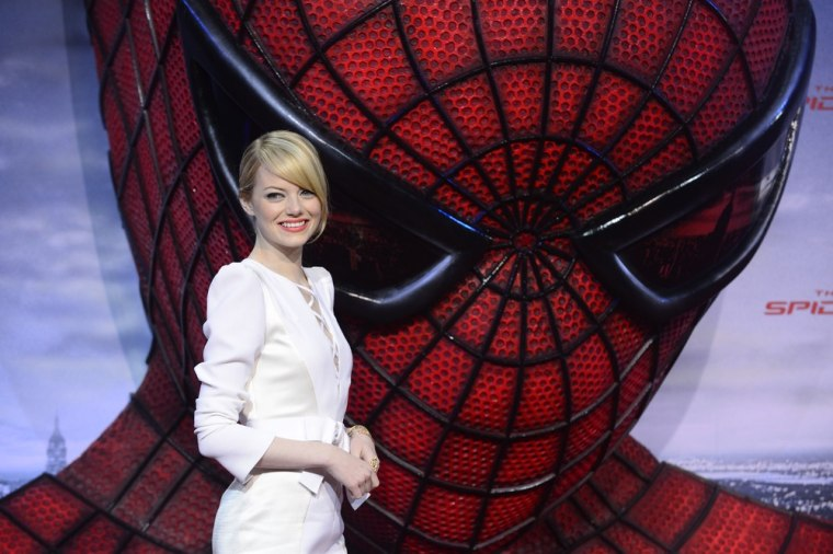 """Emma Stone at a photocall for the Berlin premiere of """"The Amazing Spider-Man"""" on Wednesday."""