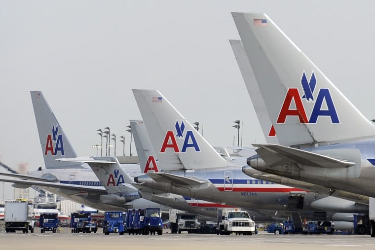Bankrupt American Airlines is a takeover target.