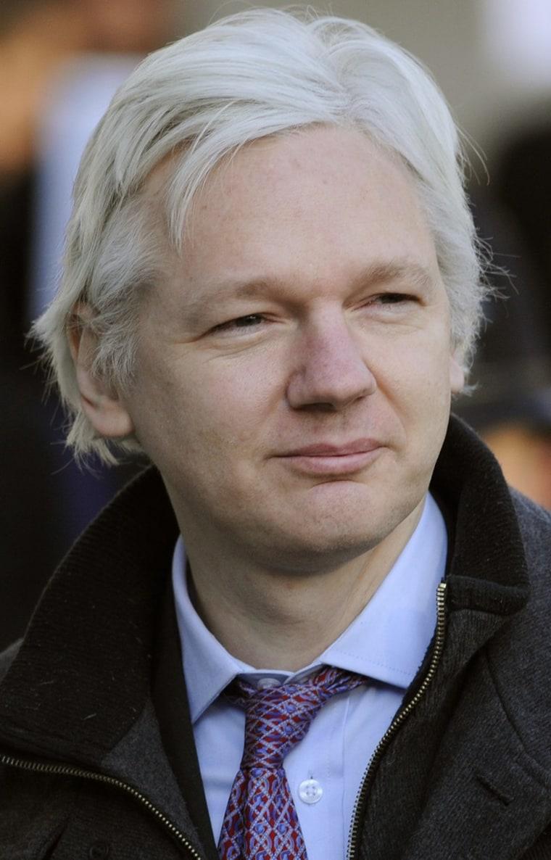 WikiLeaks founder Julian Assange arrives at the Supreme Court in London Feb. 2.