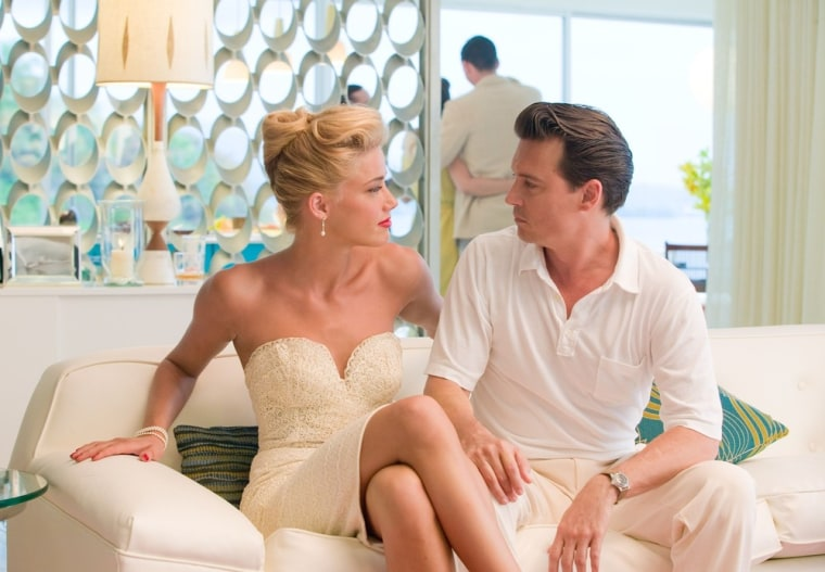 """Johnny Depp and Amber Heard in """"The Rum Diary."""""""