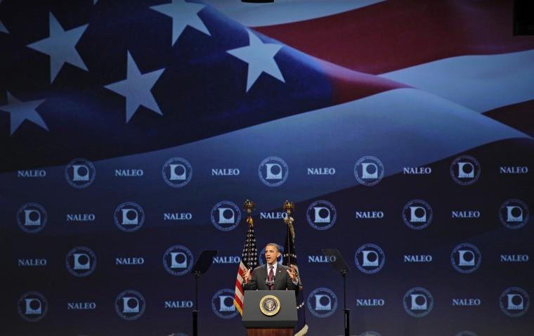 Obama speaks at NALEO