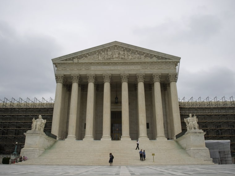 The Supreme Court is seen in Washington, DC, June 18, 2012. The highest court in the US is set to rule within days on the constitutionality of US President Barack Obama's health care reforms.