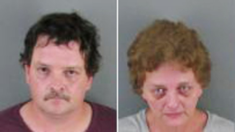 Police say Joy Evonne Skipper and Johnny Rufus Dickson boarded up their son's room and left him without food or water.