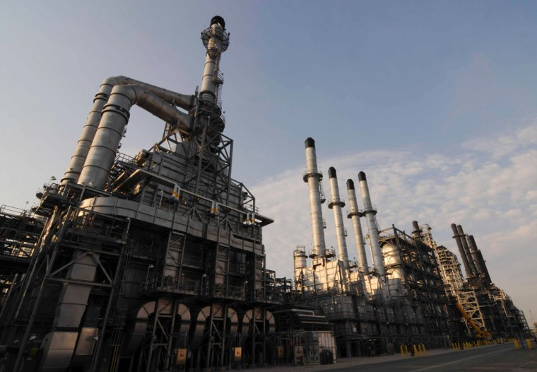 The Motiva Enterprises oil refinery in Port Arthur, Texas, is pictured in this undated handout photo obtained by Reuters. On June 9, during repairs to a minor leak at the refinery, the inadvertent introduction of a small volume of caustics ultimately caused what could be billions of dollars of damage to the plant.