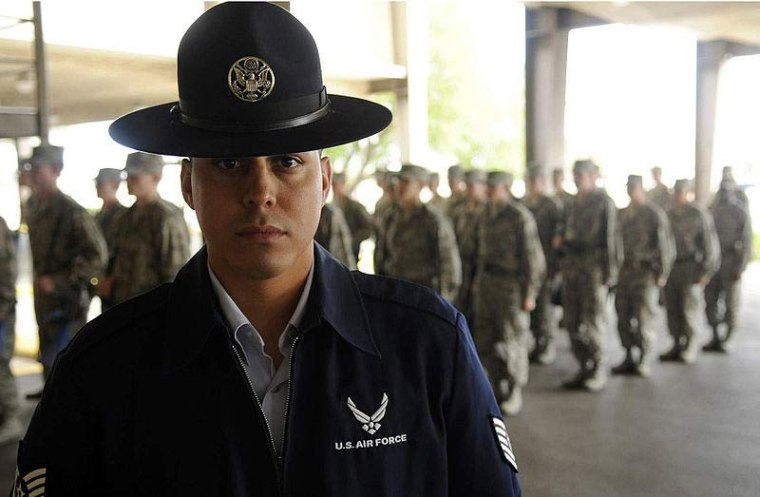 Sgt. Ricardo A. Chavez is a military training instructor at Lackland Air Force Base, Texas