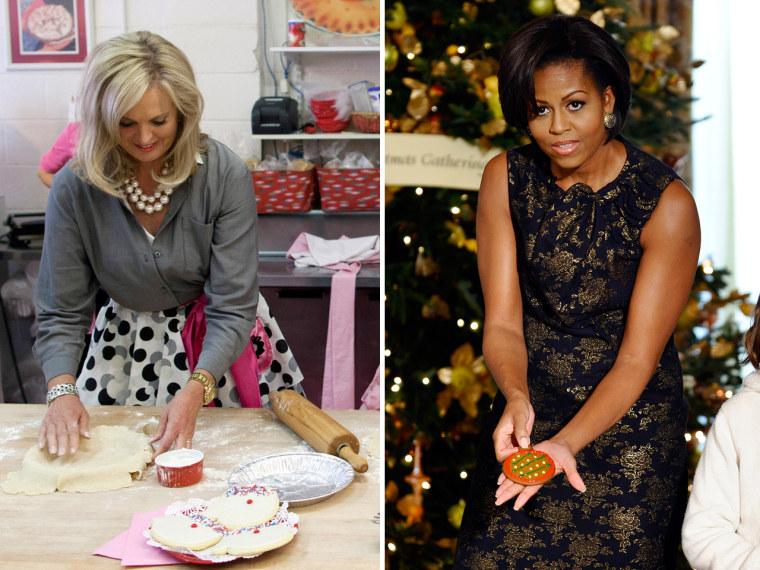 Ann Romney, left, and Michelle Obama will go head-to-head in a cookie recipe contest.