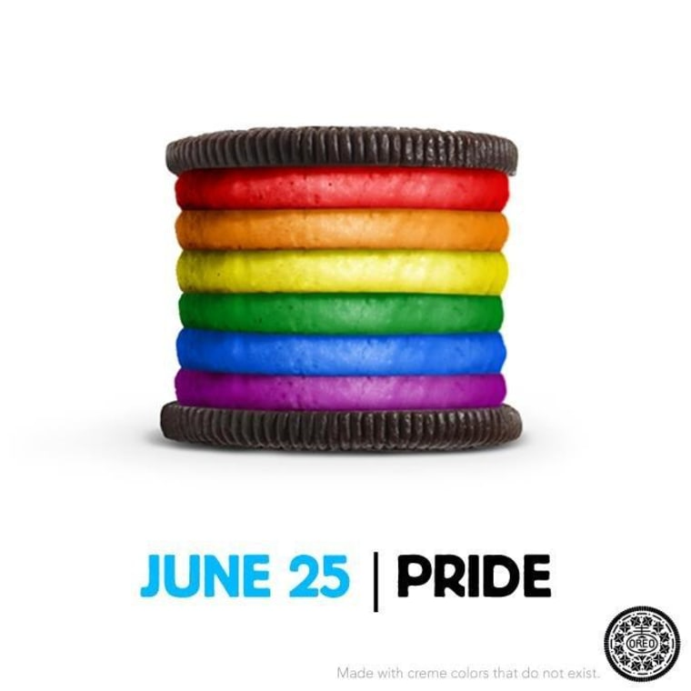 The image that appeared on Oreo's Facebook fan page