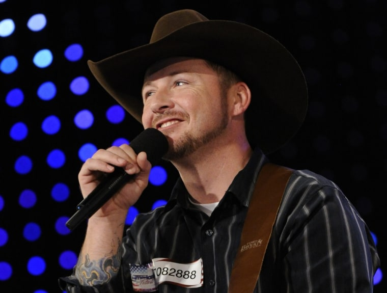 """Country crooner Timothy Michael Poe, the Army veteran who made headlines after he exaggerated his military record on """"America's Got Talent,"""" is now out of the running on the reality competition."""