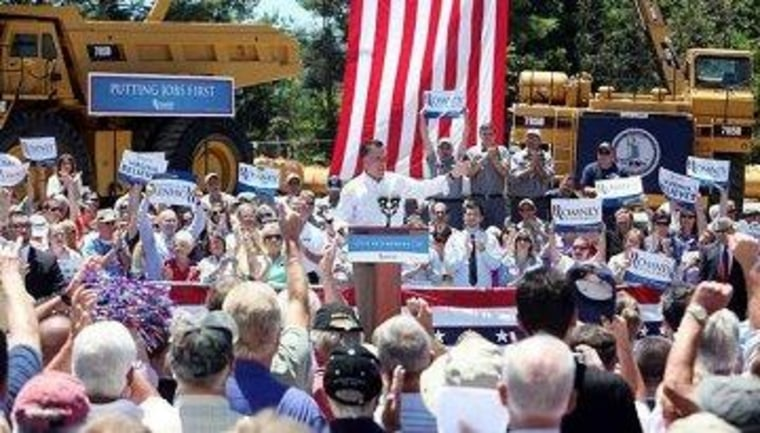 Romney campaigns at Carter Machinery in southwest Virginia.