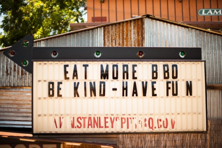 Stanley's Famous Pit Bar-B-Q in Tyler, Texas, ranks among the finest BBQ joints in the country.