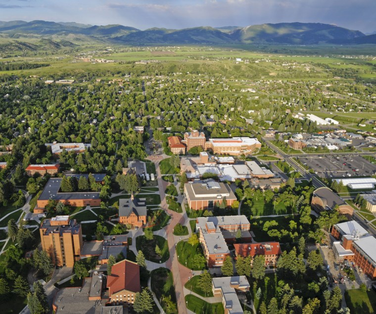 Bozeman and Montana State University are shown in an aerial photo taken in July 2010.