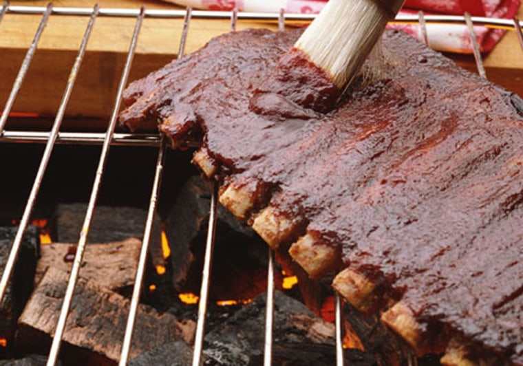 Barbecue sauce is high in sugar and usually piled on in hefty helpings, said chef Sam Talbot, author of