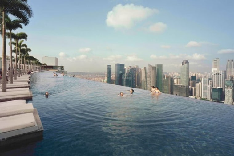 The pool at the Marina Bay Sands is an eye-popping 656 feet above the streets of Singapore.
