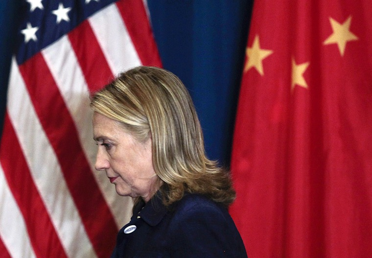 U.S. Secretary of State Hillary Rodham Clinton is shown in Beijing on May 4.