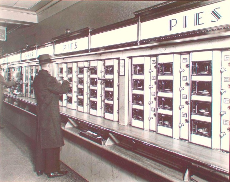 An automat on Manhattan's Eighth Avenue in 1936 photographed by Berenice Abbott.