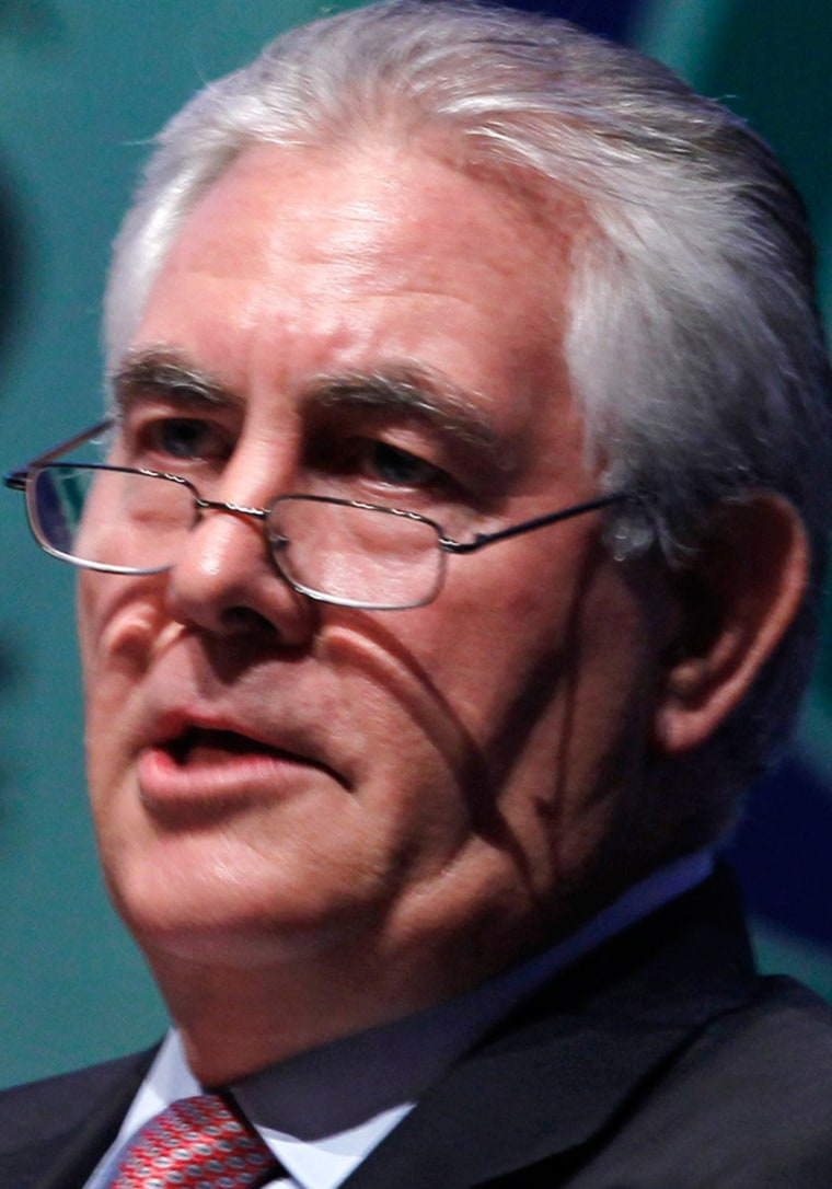 """""""It's an engineering problem and there will be an engineering solution,"""" ExxonMobil CEO Rex Tillerson said of climate change."""