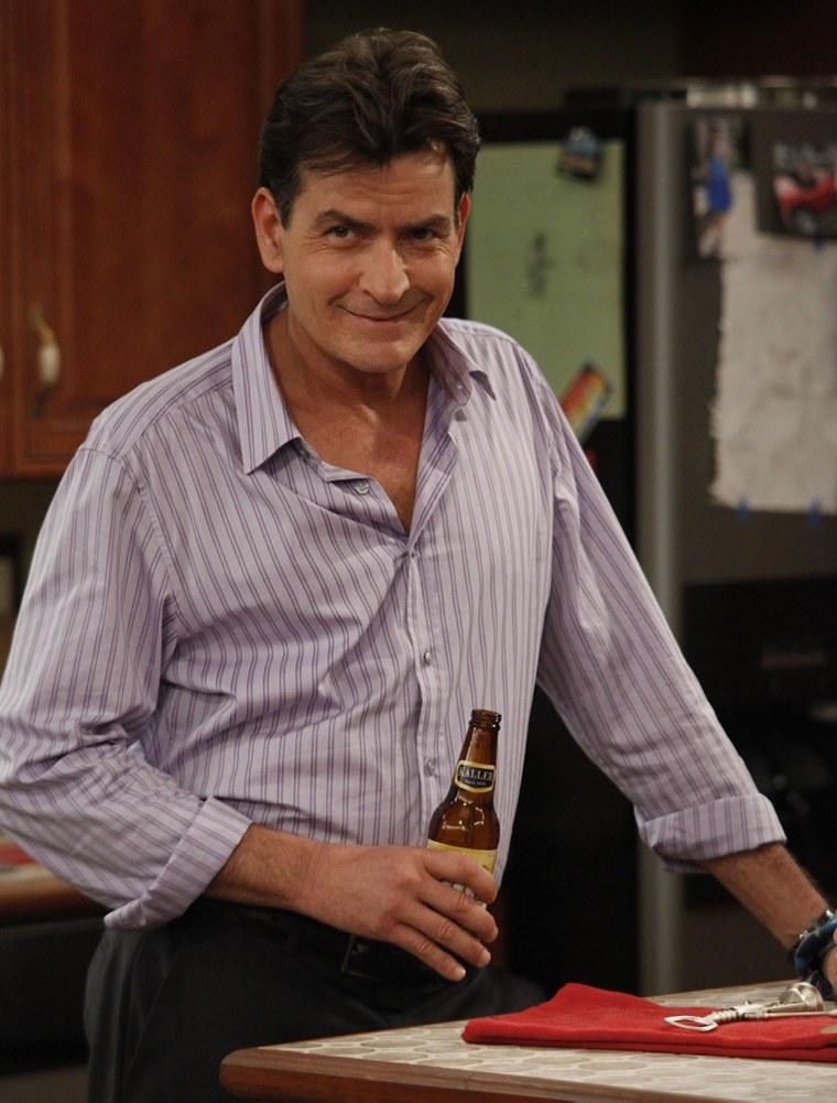"Charlie Sheen as Charlie Goodson on ""Anger Management."""