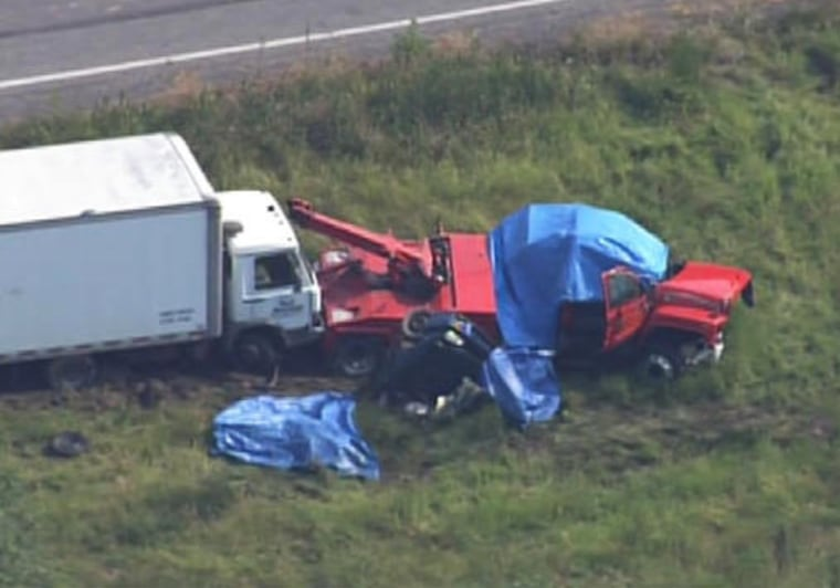 A car and tow truck collided in Lehigh County, Pa., killing five people. The passenger in the tow truck survived and was taken to the hospital.