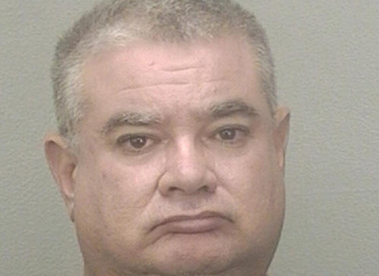 Authorities say Juan de los Rios made a 15-year-old girl take her clothes off when he saw her talking with a boy inside the back seat of a car.