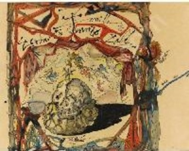 """This image provided by the New York Police Department shows a 1949 Salvador Dali painting called """"Cartel des Don Juan Tenorio."""""""