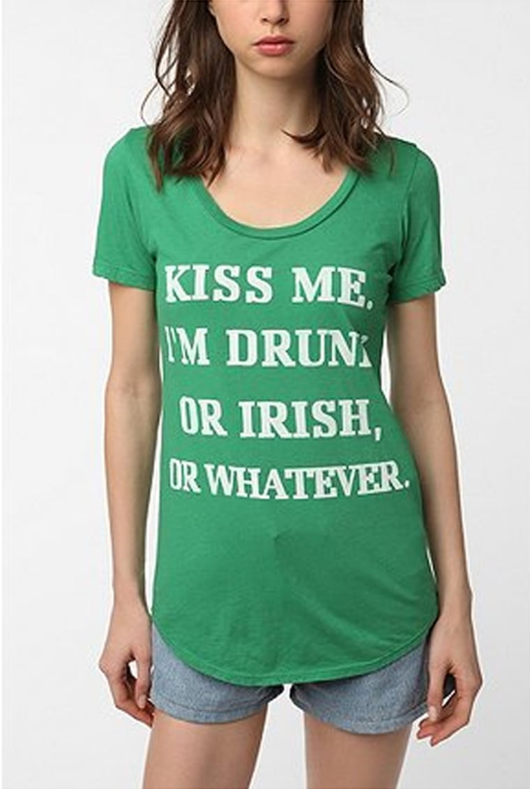 A T-shirt available on urbanoutfitters.com and being called into question by Irish organizations.