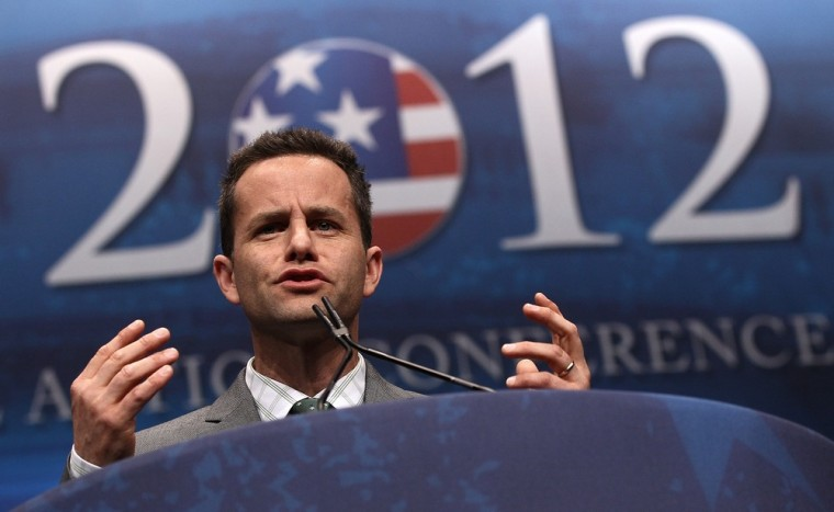 WASHINGTON, DC - FEBRUARY 09:  Actor Kirk Cameron speaks during the annual Conservative Political Action Conference (CPAC) February 9, 2012 in Washington, DC. Thousands of conservative activists are attending the annual gathering in the nation's capital. (Photo by Win McNamee/Getty Images)