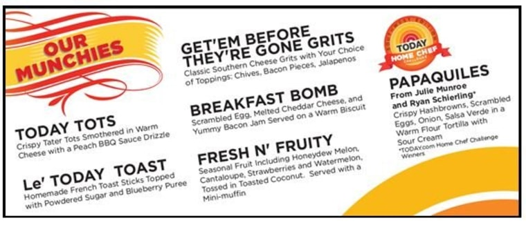 Check out our menu ... the food is FREE!