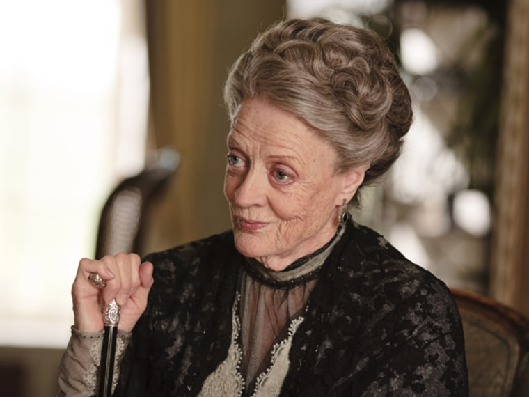 Downton Abbey Season 2 on MASTERPIECE ClassicPart 4 - Sunday, January 29, 2012 at 9pm ET on PBSShown: Maggie Smith as Violet, Dowager Countess of Grantham(C) Carnival Film & Television Limited 2011 for MASTERPIECEThis image may be used only in the direct promotion of MASTERPIECE CLASSIC. No other rights are granted. All rights are reserved. Editorial use only.