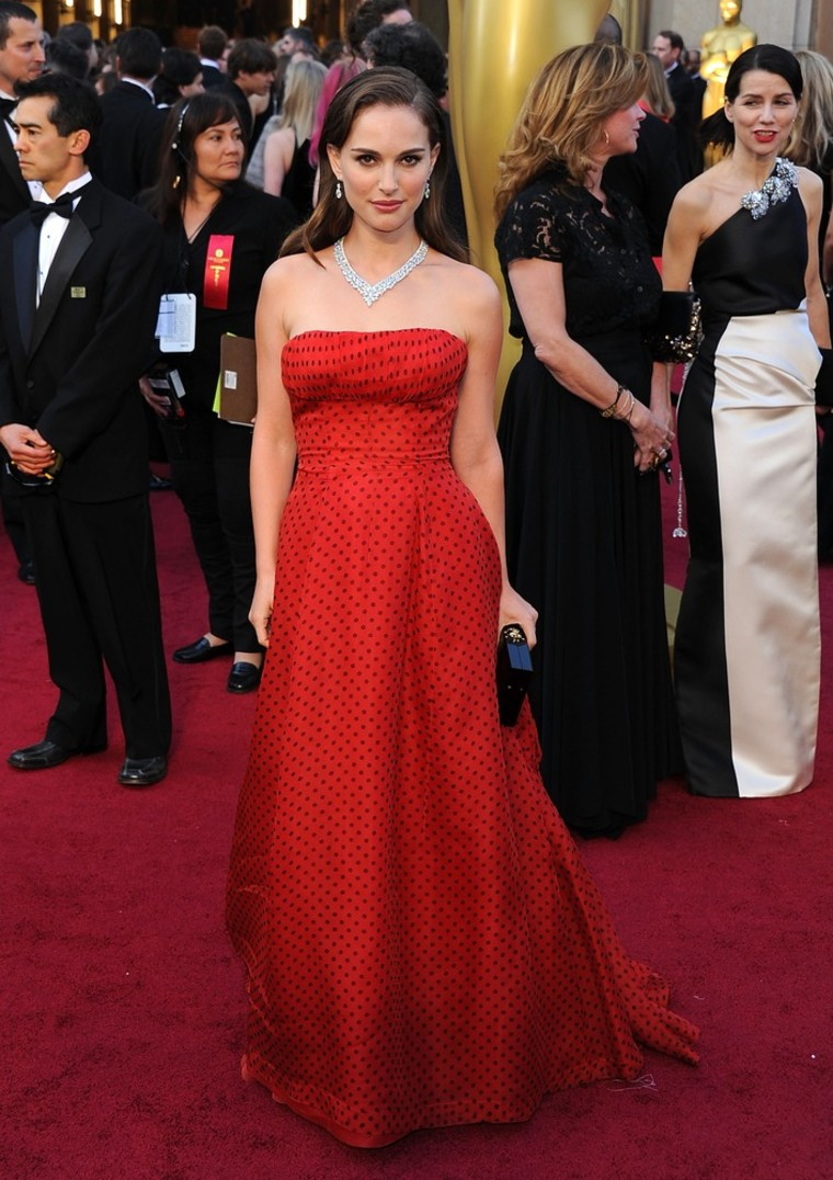 HOLLYWOOD, CA - FEBRUARY 26:  Actress Natalie Portman arrives at the 84th Annual Academy Awards held at the Hollywood & Highland Center on February 26, 2012 in Hollywood, California.  (Photo by Michael Buckner/Getty Images)