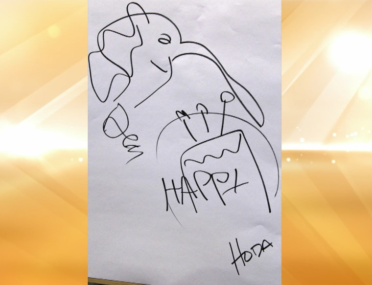 TODAY's Hoda Kotb's drawing for the Broadway production of